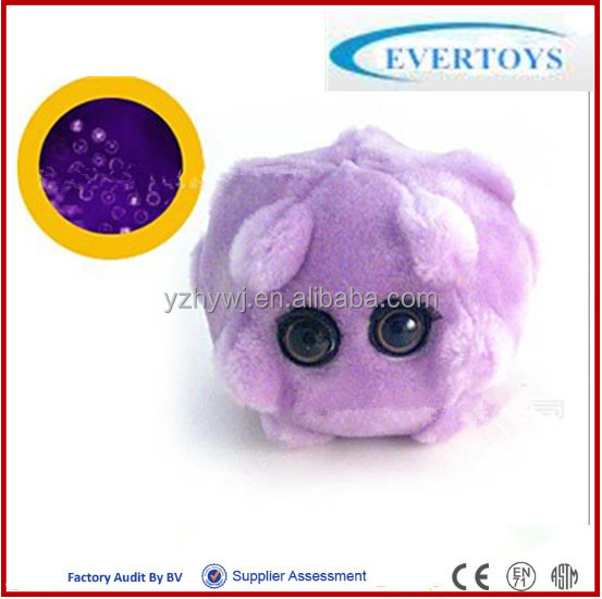 purple cheap giant microbes plush stuffy toy