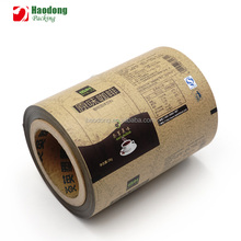 Food Grade Matte Surface Printed Laminating Plastic Coffee Packaging Metalized Film Roll