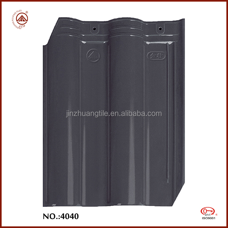 Jinjiang Factory Glossy Ceramic Slate Roofing Tiles Slate Grey Color Tiles for Roof