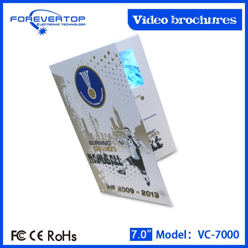 Artifical type new invitation card video post card