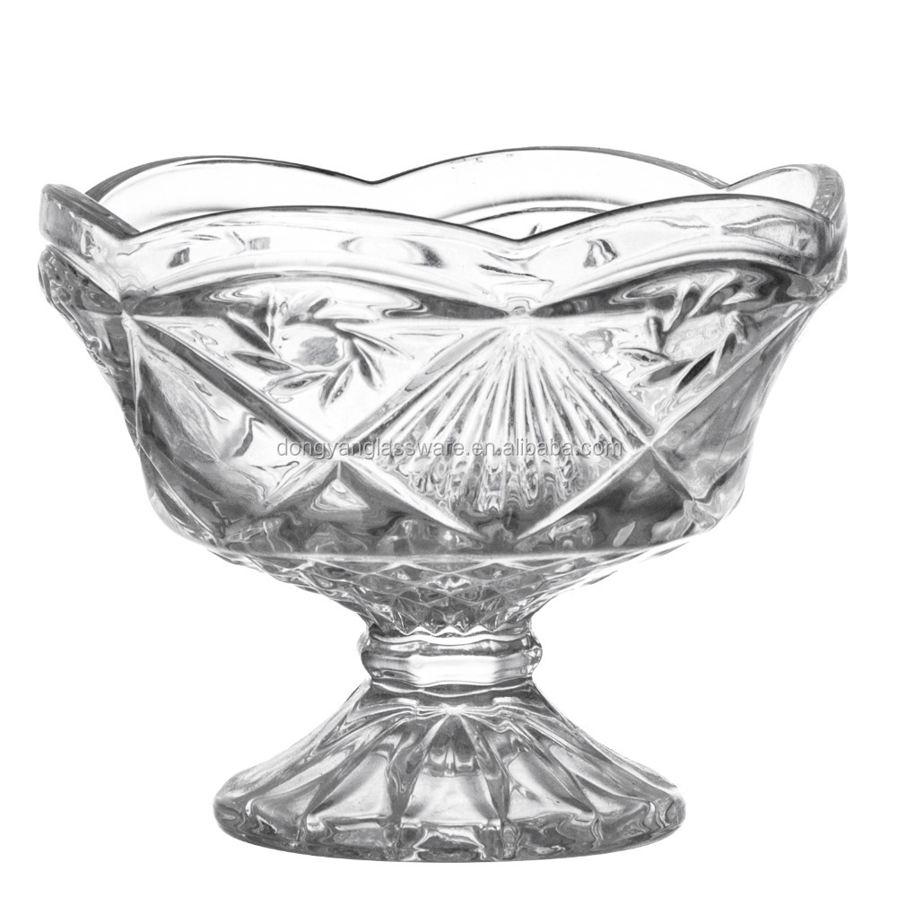 China Wholesale factory antique glass fruit bowl with good quality