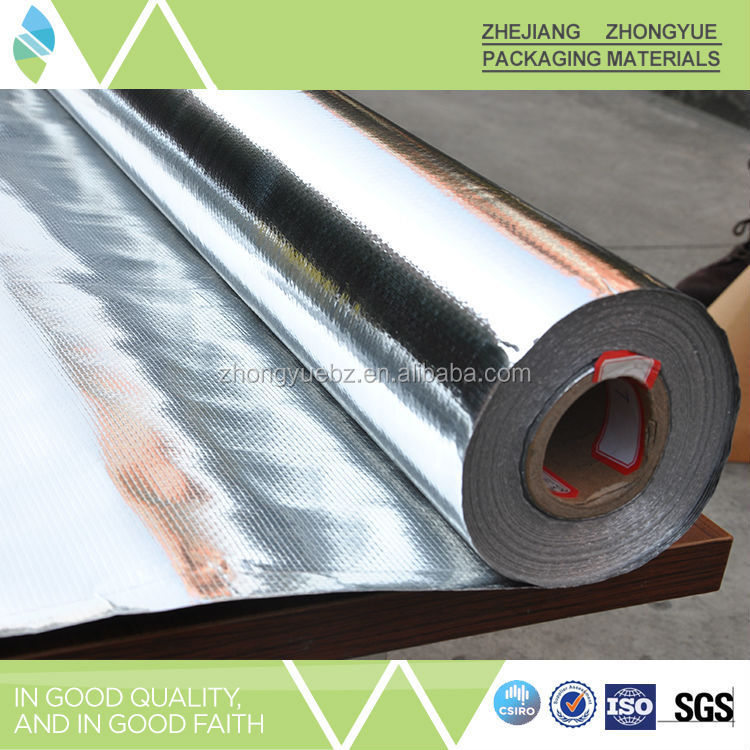 Perforated perforated double sided aluminum foil poly scrim