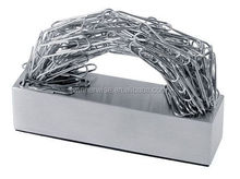 100 Clips Strong Nickel Plated Zinc Alloy Metal Magnetic Paper Clips Holder