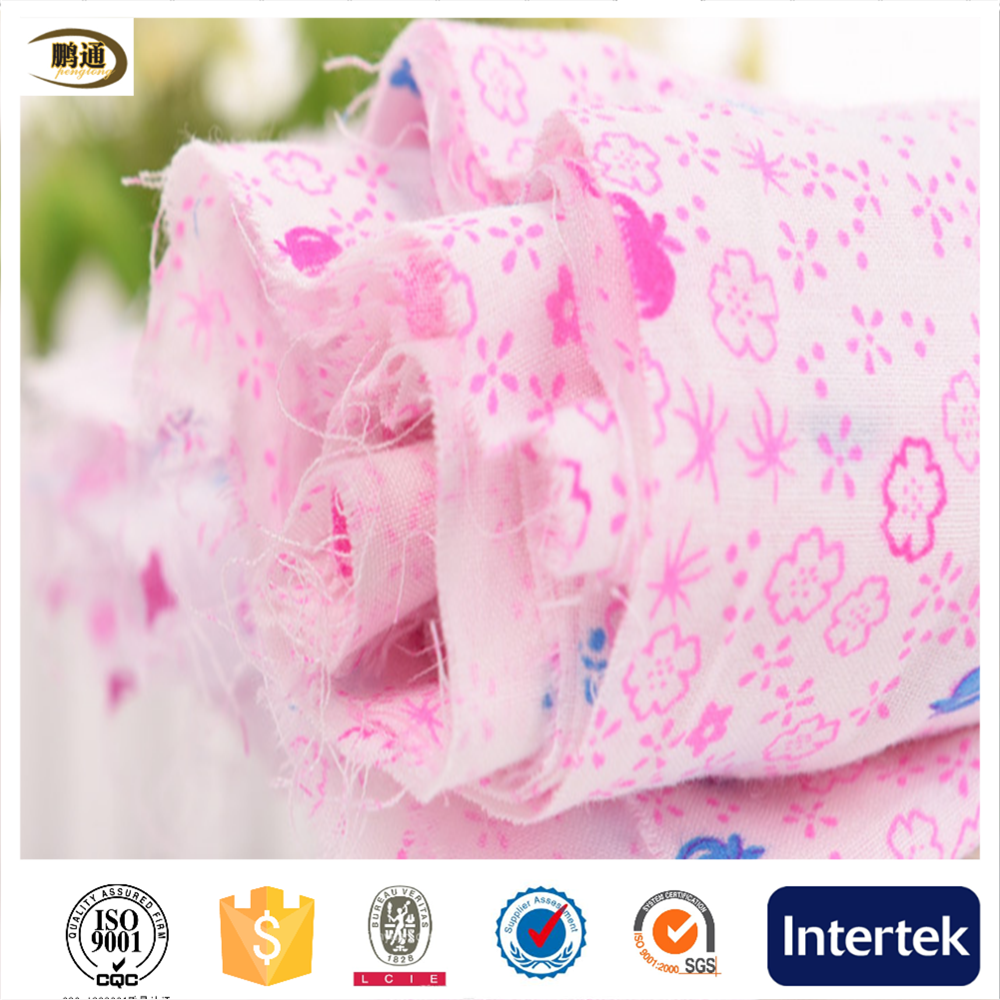 organic breathable 100% cotton printed muslin fabric factory