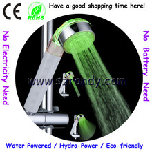 Single green Fashionable LED Shower Light Head, No Battery Needed with Adjustable Automatic Flow Bathroom Shower LD8008-A20