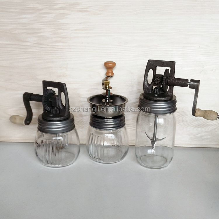 hot sale glass coffee bean or butter grinder / churner 200ml 400ml
