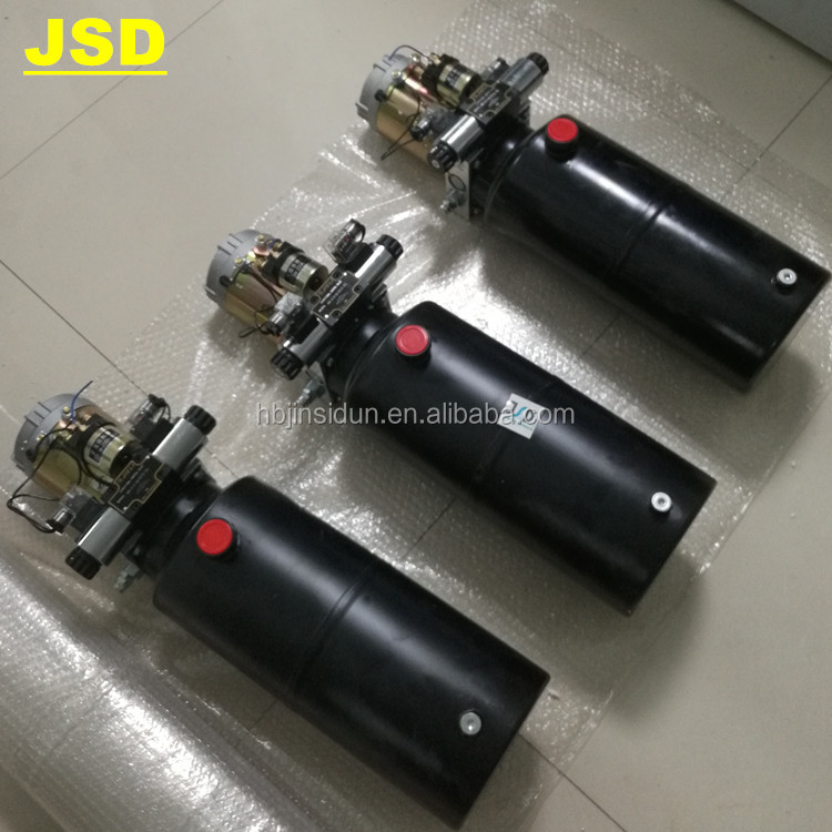 JSD Hydraulic power unit with 12 V 200 A electric motor