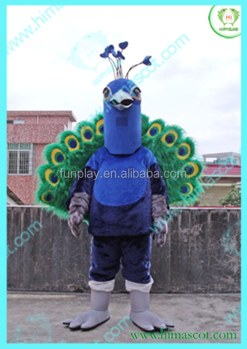 HI CE custom made animal masoct costumes for sale for adults peacock costume