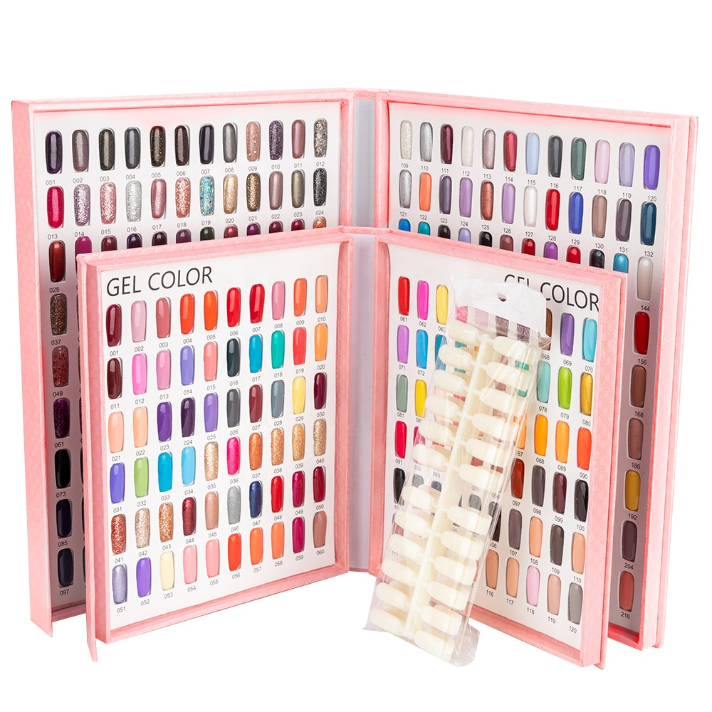 Professional Model Nail Gel Polish Color Display Box Book Dedicated 216/<strong>120</strong> <strong>C</strong> Card Chart Painting Manicure Nail Art Tools NC059