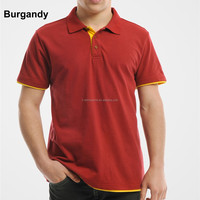 Wholesale men's clothing 65% cotton 35% Polyester short sleeve branded polo shirts