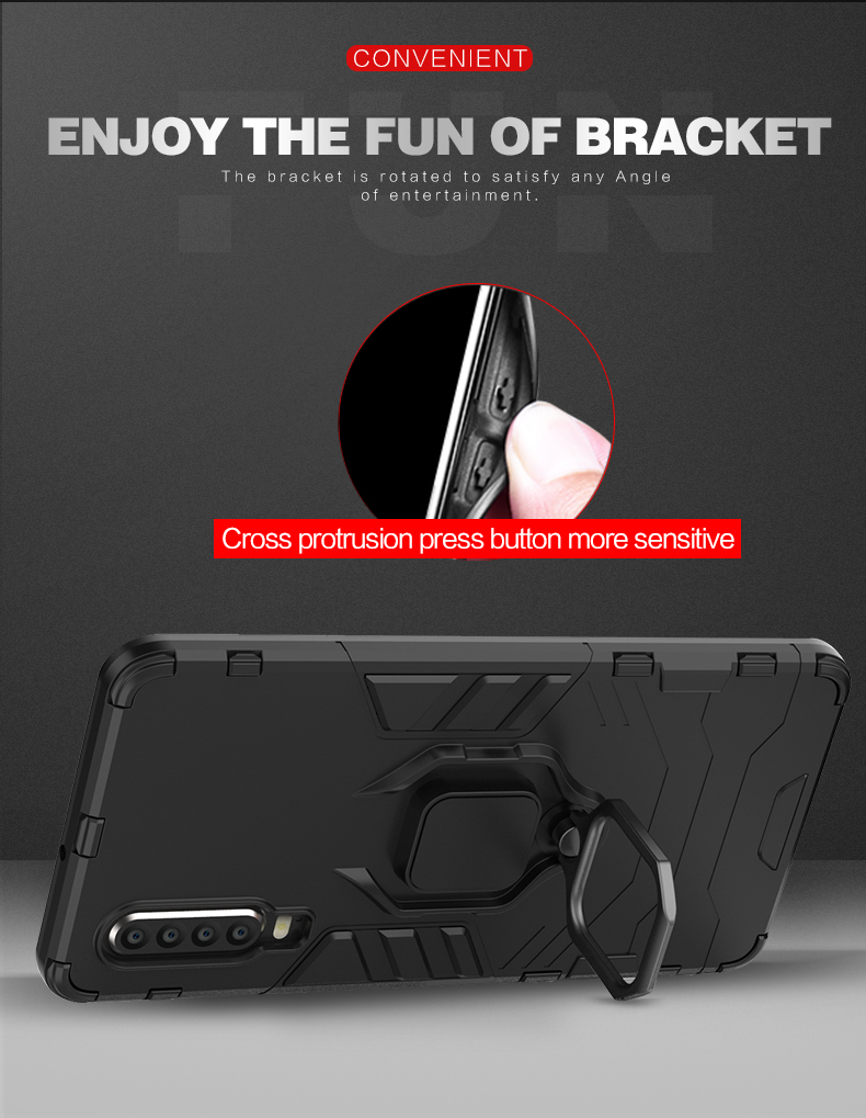 Magnet ring holder mobile phone case for Huawei P30 ,magnetic car phone holder case for Huawei P30 cover