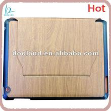 New arrival wood style pu case for ipad