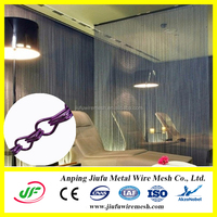 decorative salon hanging divider with chain curtain