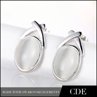 CDE Charming Joyas Cheap White Opal Earrings