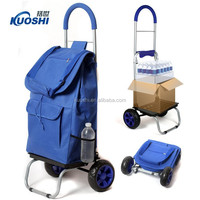 Foldable market trolley shopping bag with wheels