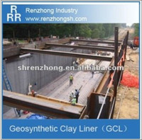 subway waterproofing material Geosynthetic clay linr (GCL)