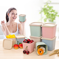 New arrived Eco friendly Wheat Fiber Spice Food Container Household Kitchen Wheat straw storage box