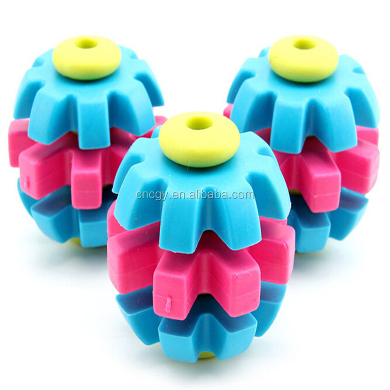 Pets Tricolor Turn The Ball TPR Toy Dog Toys Bite-Resistant Teeth Can Be Mixed Batch Zanies Dog Toys