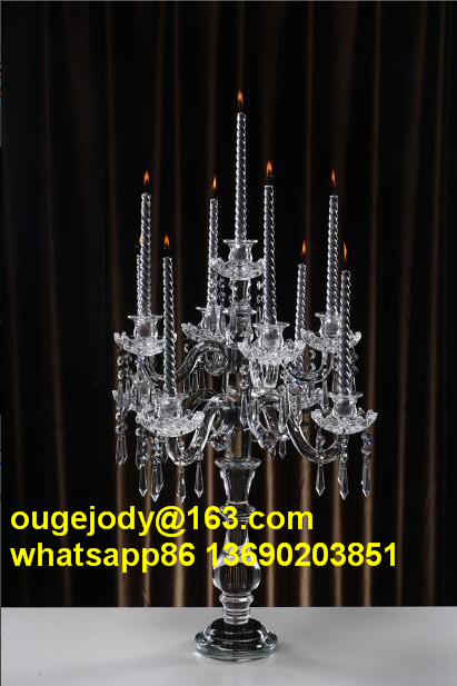 Crystal candelabra wedding centerpieces clear
