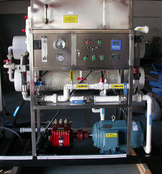 1000L/H seawater treatment skid RO desalination system price, mobile desalinator