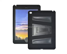 Premium 3 in 1 black combo PC+silicon case cover with stand for ipad air 2