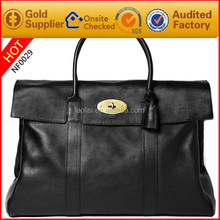 Best Brand designer high quality top grain leather handbag band bags for men