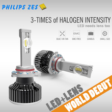 Latest Unique lens super bright led head light with H1 H4 H7 H8 H11 9005 9006
