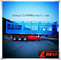 high quality Q420 steel plate cargo box trailer, in truck trailers light design, 3 axle with 7 dodrs