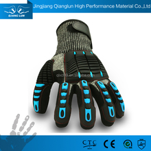 QLSAFETY HPPE Black nitrile coating tpr industrial heavy duty rubber glove