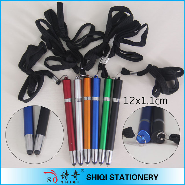 wholesale pen making touch screen roller ball pen with cord