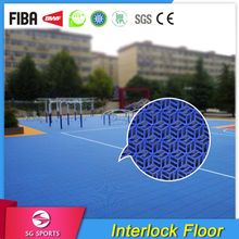 ITF Certified Professional Factory Eco-friendly Anti-slip Smellless Outdoor Basketball Court Flooring
