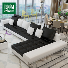 Chinese style contemporary design furniture leather sofa set A009a