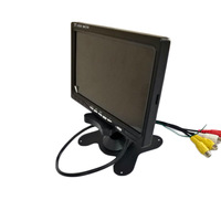 "Most popular AHD 7"" Car monitor 1024*600 with 2 Channels Video Input Car Rear View screen"