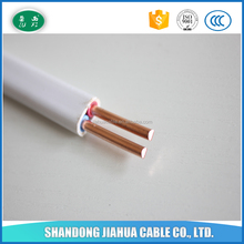 PVC insulated BVVB flat copper wire