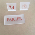 acrylic logo block nameplate for shop