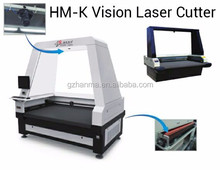2016 New HM-K1812 Vision Laser Cutting Machine for Printed Fabric Textile with good price