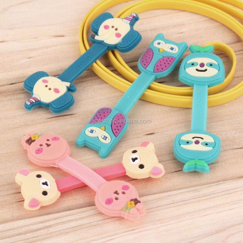 china suppliers silicone animal magnetic phone holder cable winder earphone winder