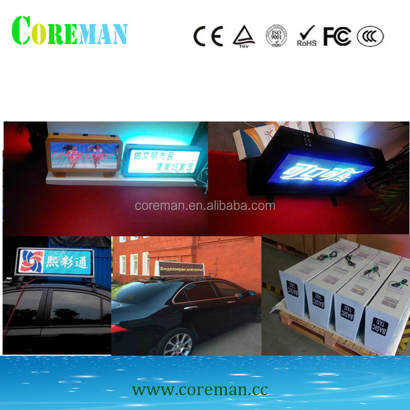Double Side Taxi LED Display taxi top <strong>advertising</strong> p5 outdoor high brightness <strong>advertising</strong> led panel
