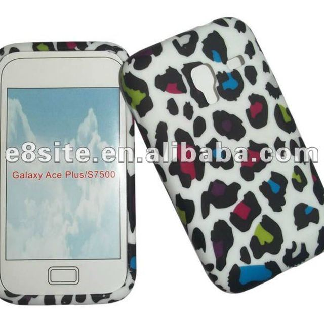 Leopard Full Print TPU Back Phone Cover For SamSung S7500 Galaxy Ace Plus