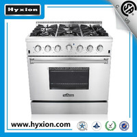 36'' portable gas cooker hob with oven 6 burners