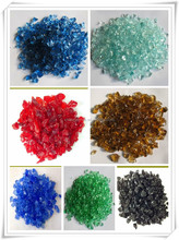 Garden decoration colored natural recycled glass cullet prices