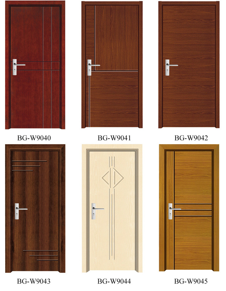 Bg w9032 wooden temple design for home single wooden door for Single door design