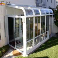 hign daylight Aluminium lowes sunroom/winter garden Guangzhou factory price