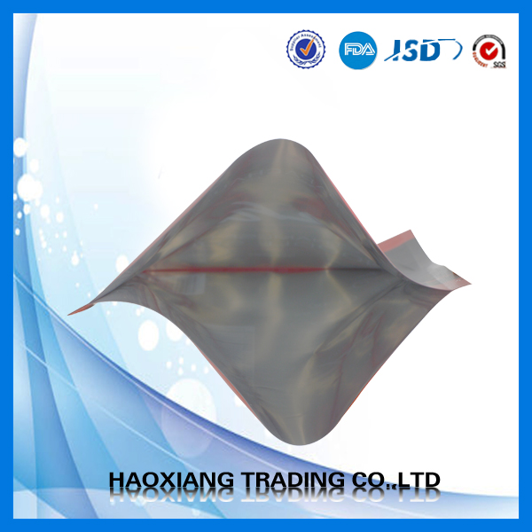 3 side seal packaging food plastic bag for snack ,Food grade heat seal for beef jerky packaging