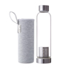 stainless steel lid and infuser glass water bottle with tea infuser