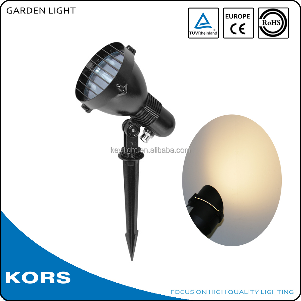 CE ROHS TUV outdoor garden led spot light aluminum body