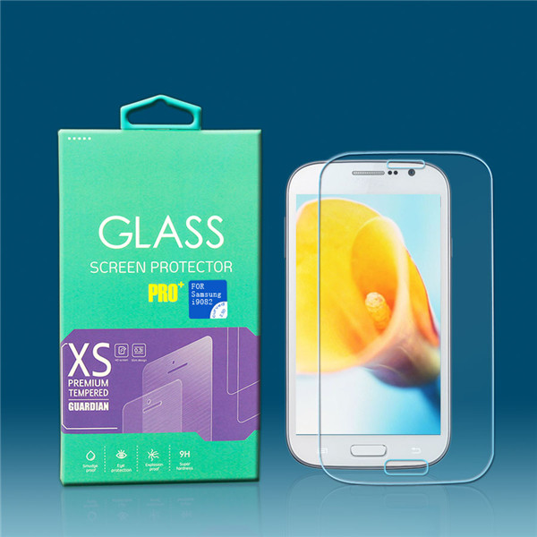 anti finger print glass screen protector for Samsung i9802 mobile screen guard