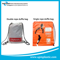 Disposable plastic sports duffle carrier bags