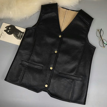 Custom Genuine Sheepskin Leather Gilets Top Quality Men Fashion Vest Hot Sale Jacket