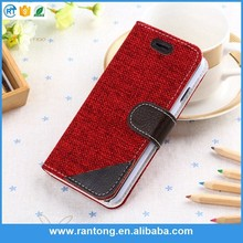Best selling unique design pu leather cell phone case for iphone5 2015